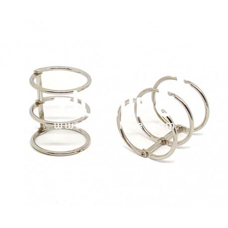 Reliure 3 anneaux - 2,5 cm argenté