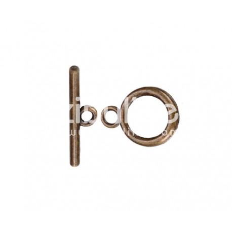 Fermoir T simple - Bronze