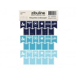 Etiquettes à découper - Les fanions Bleu