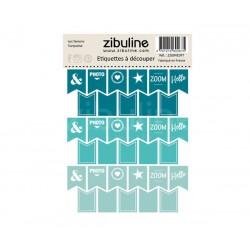 Etiquettes à découper - Les fanions Turquoise