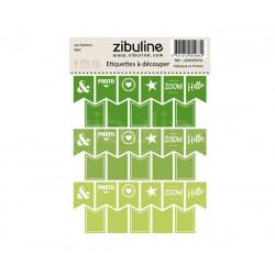 Etiquettes à découper - Les fanions Vert