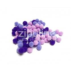 Mini pompons boules - Violet