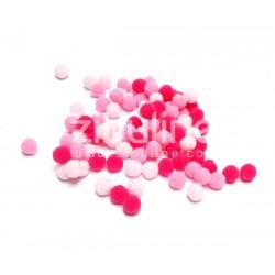 Mini pompons boules - Rose