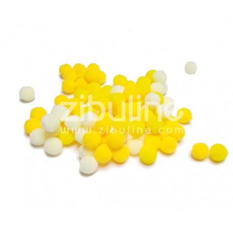 Mini pompons boules - Jaune