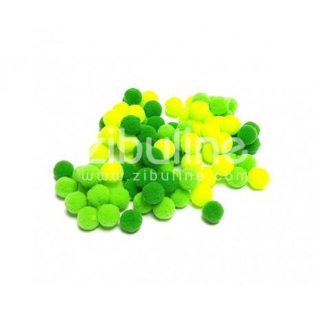 Mini pompons boules - Vert