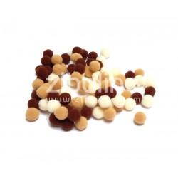 Mini pompons boules - Marron