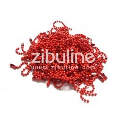 Chaînette - Rouge mat