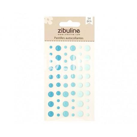 Pastilles autocollantes - Bleu