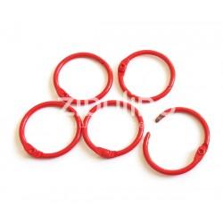 Anneaux de reliure 25 mm - Rouge