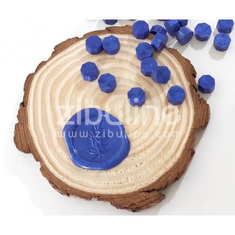 Pastilles de cire - Bleu roi nacré