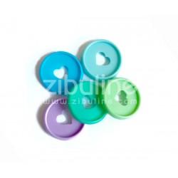 Disques à relier - 28 mm Cœur mix chaud