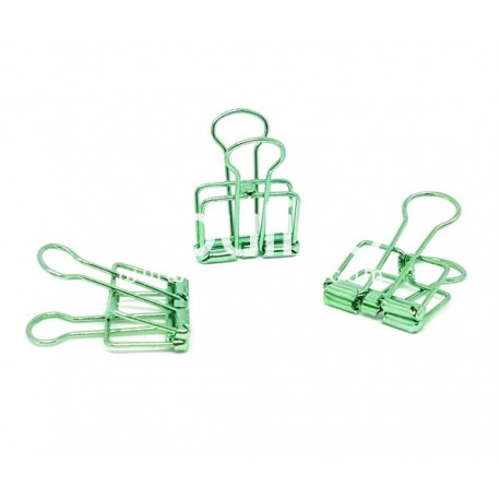 Clip métal - Vert d'eau