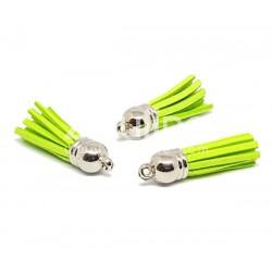 Pompon suédine - Vert fluo